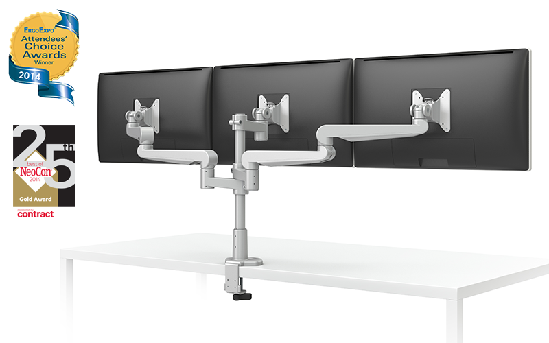 Esi evolve triple and quad monitor arms buy rite business