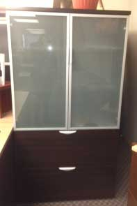 Storage Cabinet w/ Alu. Glass Doors