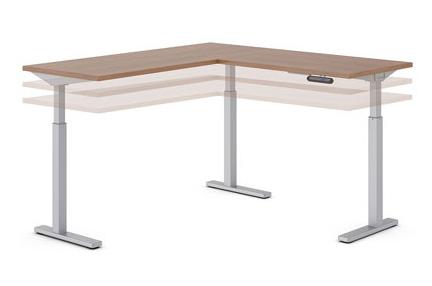Ionic L-Shape Height Adjustable Series