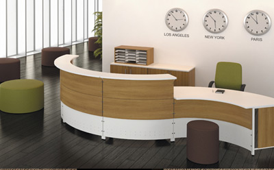 RC Curved Reception Desk