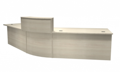 Curved Reception Desk with Waterfall