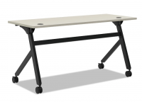 Flip Top Table Grey and Black