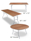 Iceberg Plywood Folding Tables