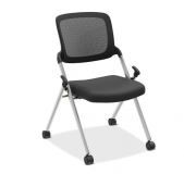 Mesh Back Nest Chair Silver No Arms