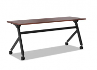 Flip Top Table Chesnut and Black