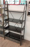 Glass Bookcase with Metal Frame
