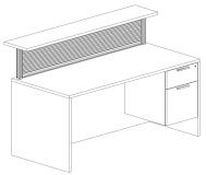 Outlines Series Rectangular Reception Desks