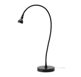 Adjustable LED desk lamp in black