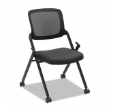 Mesh Back Nest Chair Black No Arms
